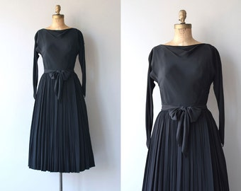Claire McCardell dress | vintage 1950s dress | black 50s dress