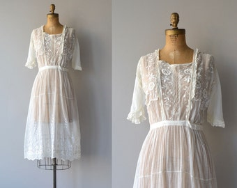 Avalon dress | cotton 20s dress | vintage 1920s tea dress