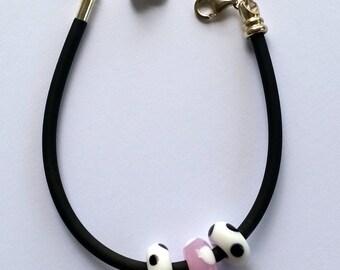 Caprice Large Holed Bead Bracelet