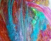 Reserved for J Rice Superstition 2.6 oz  Wool - Merino- Art Batt // Wool Art Batt for spinning or felting
