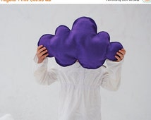 ON SALE Purple Rain Cloud Pillow Plush Wool Cushion - Spring Kids Bedroom Decor Accent Pillow - Baby Dreamy Decoration