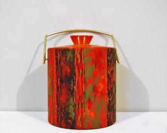 Vintage Ice Bucket Mod Orange