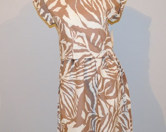 Vintage 80's meets Tribal Two Piece Dress