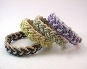 mixed color two strand sailor knot woven bracelets colorful beach bracelets turks head knot bracelets 4007