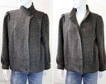 Vintage International Scene Woman's Size M/L Tween Menswear Inspired Waist Coat Jacket