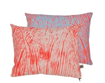 Painter Pink/Fluoro/Sky Screen-Printed cushion