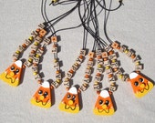 Happy Fall Necklace Candy Corn Necklace Hand Painted Necklace Autumn Necklace Halloween Necklace Wooden Necklace Fall Necklace Name Necklace