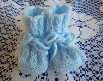 Knit Baby Booties, Booties Newborn, Baby Boy Booties, Baby Shower Gift, Baby Accessories, Clothing Newborn, Take Home Baby, Winter Booties.