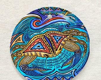 Primitive Crab Ornament and Suncatcher