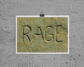 Rage - 4 x 6 photograph
