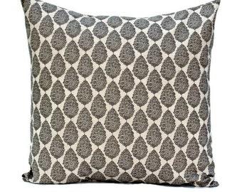 Gray Natural Pillow Cover, Premier Prints Jersey Byram Gray Laken, Choose Size 16x16, 18x18, 20x20