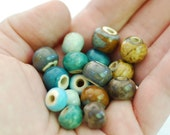Handmade Ceramic Beads - Round Beads - Made To Order - You Pick The Color Palette - Marsha Neal Studio - Handmade Porcelain Beads