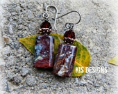 Copper and Stone Earrings