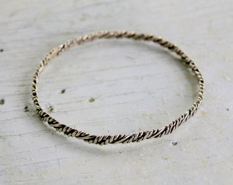 STERLING Silver Bangle Bracelet 925 Mexico