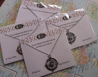 The Laura Necklace - Large Compass Necklace