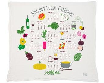 2016 BuyLocal Calendar Tea Towel