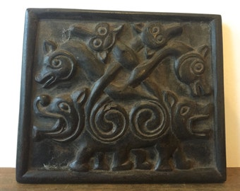 Vintage Celtic Wall Plaque~ Wall Hanging~ 9th century cross of moon~ Ballyshannon Ireland