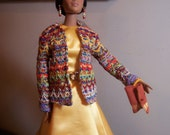 Jamieshow - Tulabelle - Wu Alex - Golden Autumn Silk + Multicolored Knit Ensemble