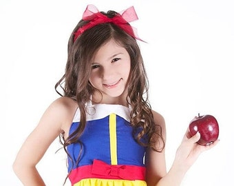 Summer Savings Event Disney Inspired Snow White Halter Dress for Infants, Toddlers, Girls Sizes 6 mos to Size 10