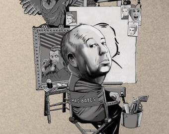 The Master of Suspense 8X10 Print