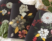 Notebook set- Illustrated notebooks - A6 - floral - botanical - Bouquet