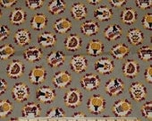 THANKSGIVING FABRIC! By The Half Yard - For Quilting and Doll Clothes / Owls - Pilgrims - Turkeys