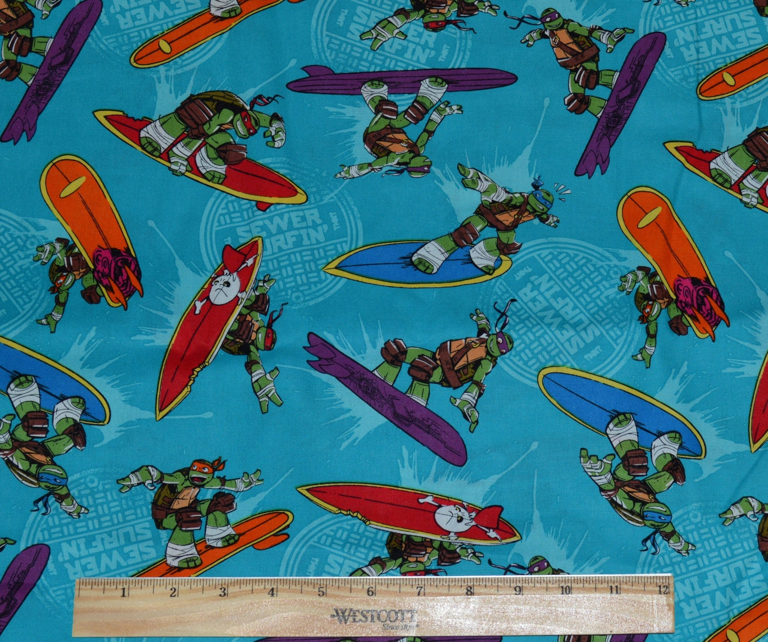 Sale Ninja Turtles Fabric By The Half Yard For By