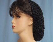 Crocheted SNOOD - Color Choice - Renaissance Costume Hair Accessory - Headgear Hair Net - Retro - Lots of Colors Available - Acrylic Yarn