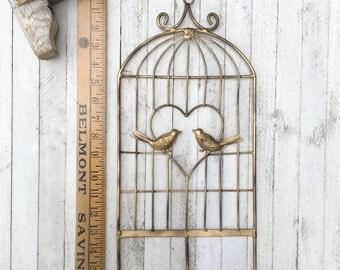 Metal Wall Hook, Bird Wall Decor, Anthropologie Style, Bird Decor, Nest, Keyholder