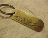 Fly Marines C-130 Hercules Etched Brass Keychain