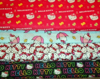 HELLO KITTY #1  Fabrics, Sold INDIVIDUALLY not as a group, by the Half Yard
