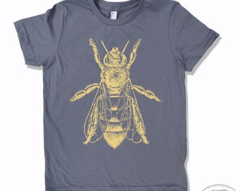KIDS HONEY Bee Tee Shirt - American Apparel Sizes 2 4 6 8 10 12 (8 Color Options) - FREE Shipping