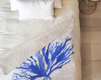 Sea Coral Fleece Throw Blanket