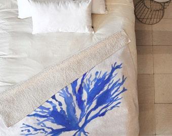 Sea Coral Fleece Throw Blanket