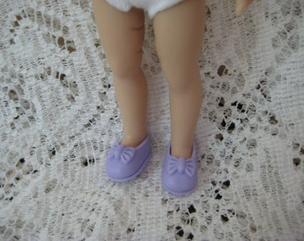 Lavender slip on shoes to fit 1980''s Ginny and Kish's Riley and other eight inch dolls
