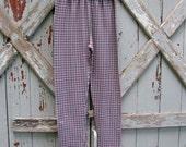 Vintage 90s gingham plaid stretchy pants