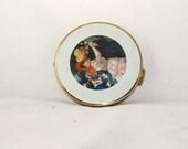 Vintage 1960s Renoir  Dance at Bougival  gold compact