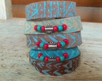 Boho Jewelry Stackable Bracelet, Boho Bracelet, Boho Chic Jewelry Cuff Bracelet, Boho Leather Bracelet,  Boho Fashion bracelet Boho Style