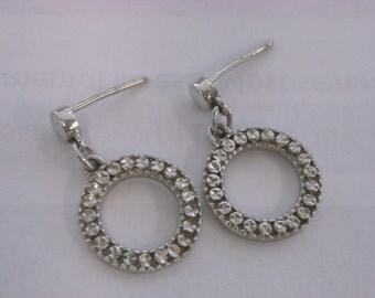 14k white gold earrings  ( W 20 )