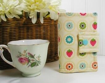 Tea Wallet, Tea Pouch, Tea Bag Wallet, Tea Bag Case ... Fly a Kite Cream Circles