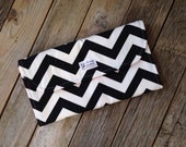 Black Chevron Diaper Clutch with Changing Pad - Chevron Diaper Clutch - New Mom Baby Shower Gift - Boy - Girl - Pink