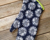 Blue - Pots Pans- Oven Glove - Oven Mitt - Pot Holder - Kitchen - Hostess Gift - Kitchen Decor - Housewarming sunflower