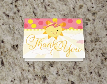 You Are My Sunshine Baby Shower Thank You Note - INSTANT DOWNLOAD - Print Your Own - BAB30_T
