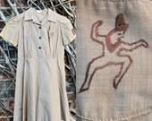 Vintage Brownie Girl Scout Uniform Dress Troup 132, Chidren Size 8 / 10 / 12
