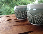 Carnival Shots - Pair - Juice Cups - Sake - Gypsy - Wanderer - hand carved