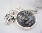 Law and Justice Sterling Silver Chain With Charms Free Shipping