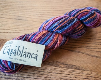 Cascade Casablanca Worsted Weight Wool/Silk/Mohair Blend Yarn - 220 yards - Gemstones 12 - DISCONTINUED PRODUCT