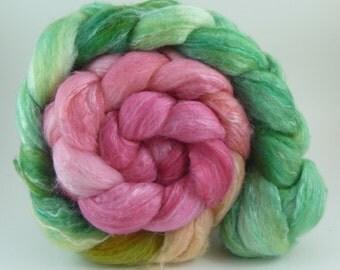 4oz Merino/Bamboo Rayon/Silk Combed Top - Xigua