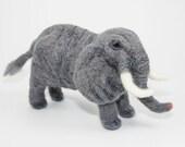 Needle Felted Elephant (Gray)
