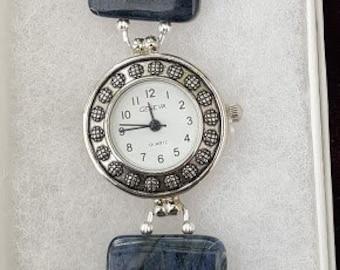 Dumitorite Gemstone Bracelet Watch